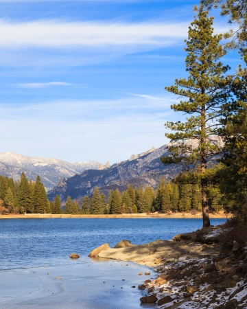 Lake Hume in early winter, Sequoia and Kings Canyon National Park, California  photo