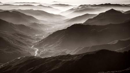 カリフォルニア州セコイア国立公園でモロ岩からの絶景 写真素材 - 24728787