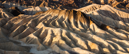 Amazing rock formations in Golden Canyon, Death Valley National Park  photo