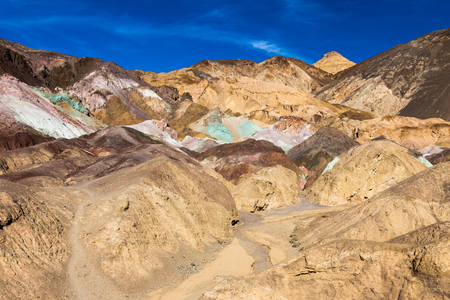 Colorful rock formations at Artist photo