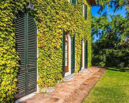 Beautiful winery on a sunny autumn day in Tuscany, Italy. photo