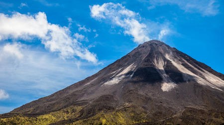 stratovolcano: Close up of the active side of Arenal Volcano in Costa Rica. Stock Photo