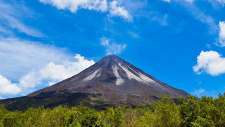 rica: Amazing view of the Arenal Volcano in Costa Rica. Stock Photo