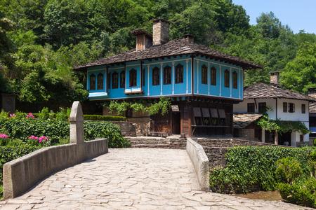 ethnographic: Houses in the ethnographic museum Etar in Gabrovo, Bulgaria.