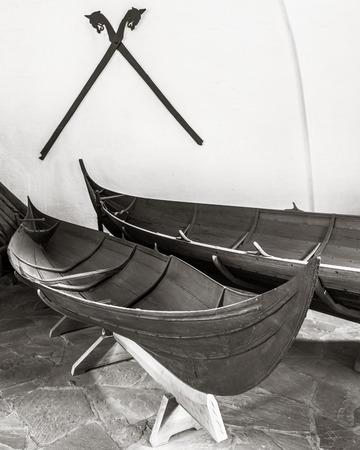 vikingo: Barco vikingo en el museo Vikingo en Oslo, Noruega. Editorial