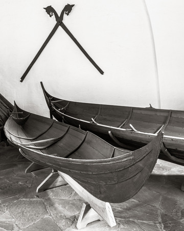 viking ship: Viking longboat in the Viking museum in Oslo, Norway. Editorial