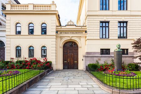 norwegian: The Norwegian Nobel Institute in Oslo, Norway. Stock Photo