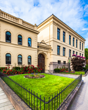 nobel: The Norwegian Nobel Institute in Oslo, Norway. Stock Photo