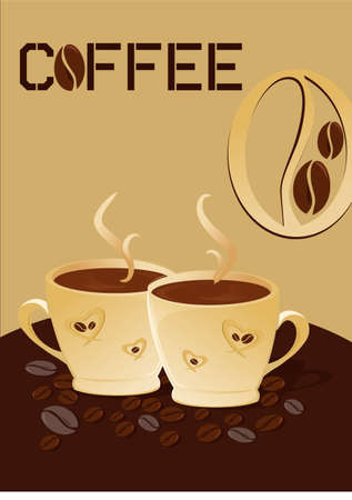 Two Cup Of Coffee Vector