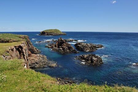 rugged shoreline of Newfoundland Stok Fotoğraf