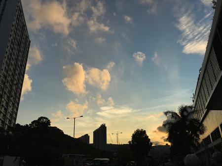 하늘, 푸른 하늘, 황혼, 저녁, 어스름, 해질녘, 어두운, 황혼