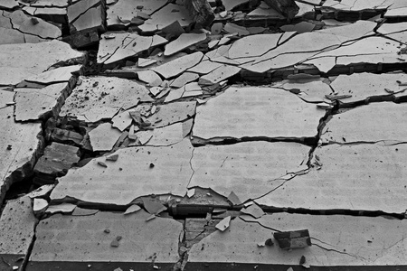 Black and white of broken wall background photo