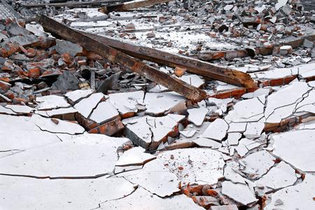 bevel: image of house destruction background