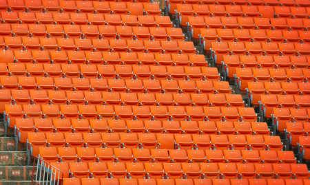 grandstand: Contemporary stadium with orange seats