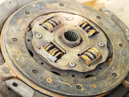 friction: Old clutch plate, together with the plate lining is a set of friction