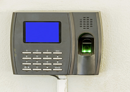 safety lock: Finger scan and password lock in office building