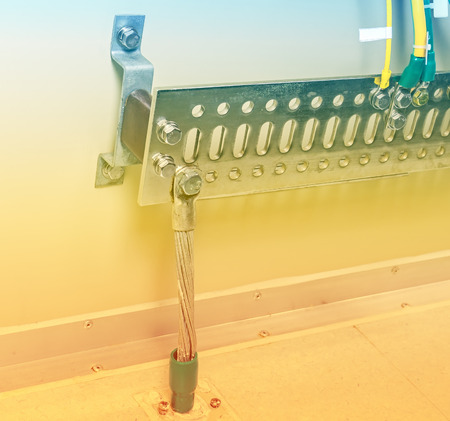 over voltage: Grounding electric bar - part of telecommunication equipment in server room