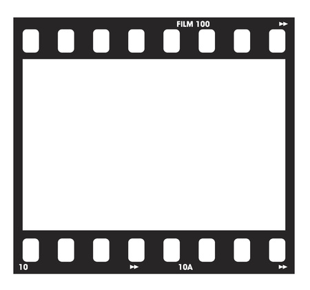 Photo negitive Filmstrip with frame numbers and code Illustration
