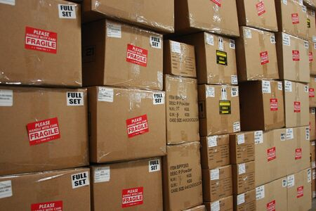 shipped: boxes waiting to be shipped