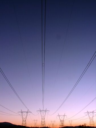 power lines: power lines at sunset 2