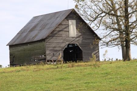 丘の上の納屋 写真素材