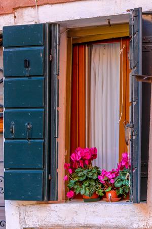 old windows: Italian old windows with flowers