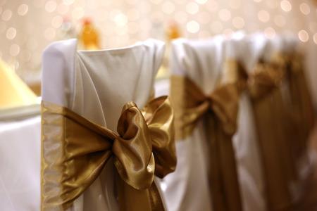wedding chairs: Wedding chairs with bokeh Stock Photo