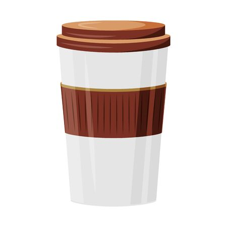 Take away drinks cartoon vector illustration. Coffee to go flat color object. Tea take out. Coffeehouse order delivery. Cappuccino, americano. Disposable cup isolated on white background. ZIP file contains: EPS, JPG. If you are interested in custom design or want to make some adjustments to purchase the product, don't hesitate to contact us! bsd@bsdartfactory.com