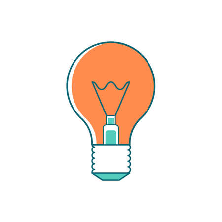 Light bulb flat color vector object. Innovative idea. Inspiration for invention. Energy efficient light. Electrical bulb. Lamp isolated cartoon illustration for web graphic design and animation