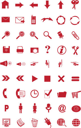 54 icons for the website Illustration