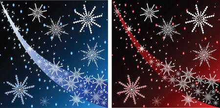 Vector Christmas background with stars and snowflakes