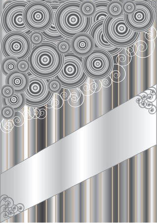Abstract background in grey tones with the space for the text Ilustração