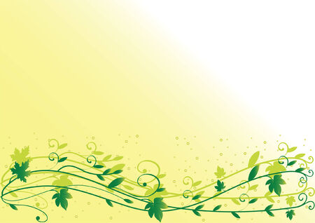Spring leaf background with space for text. Vector