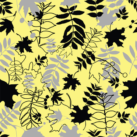 Seamless leaf background. Repeat many times. Vector illustration