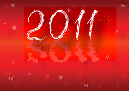 2011 new year card with the space for your text Vettoriali