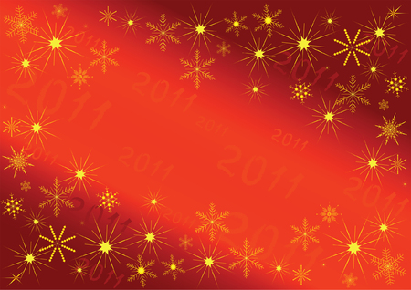 2011 new year card with the space for text