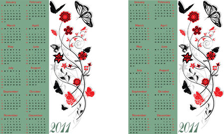 Calendar 2011, Starts both Sunday and Monday
