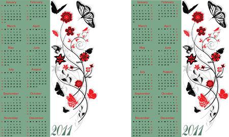 Calendar 2011, Starts both Sunday and Monday
