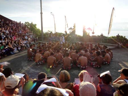 kecak: Kecak Dance at Uluwatu, Bali Editorial