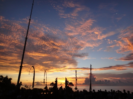 Sunset at Uluwatu, Bali Фото со стока