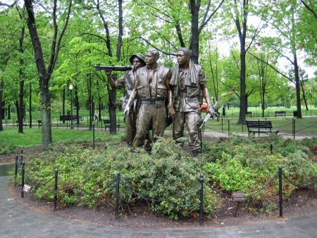 Memorial sculptures of The Three Soldiers of The Vietnam War