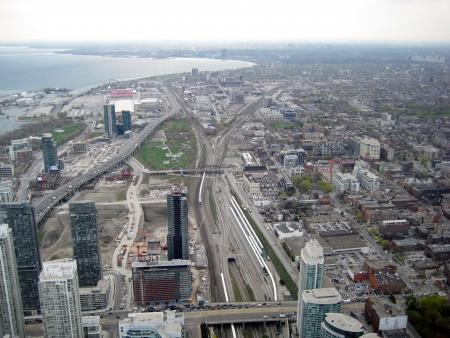 Вид с воздуха Торонто, Канада