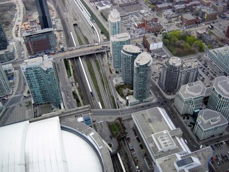 Вид с воздуха на Торонто, Канада