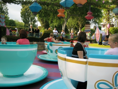 Anaheim, California, USA - Spinning Teacups, Disneyland Stock Photo - 13887208
