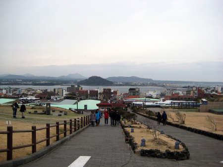 Seongsan Ilchulbong, Чеджу, Южная Корея Редакционное