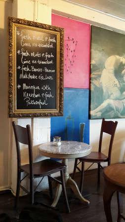 Interior of Limau-limau cafe at Malacca, Malaysia