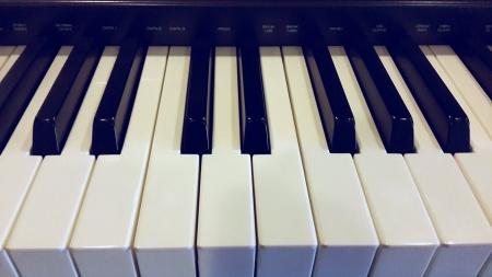 Up close of a keyboard