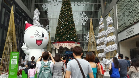 Christmas decoration at Pavilion Kuala Lumpur Malaysia Stock Photo