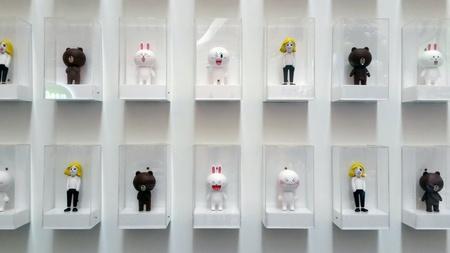 Figurines of LINE characters at Pavilion, Kuala Lumpur