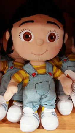 A plush doll of Agnes from the movie Despicable Me